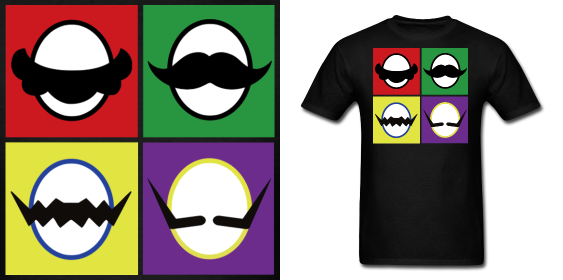 Mario Bros. Mustache Bros. T Shirt by Enlightenup23