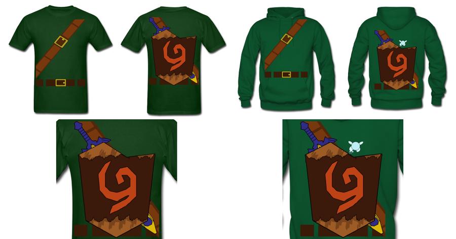 LOZ Link Deku Shield Costume T Shirt Hoodie by Enlightenup23 on ...