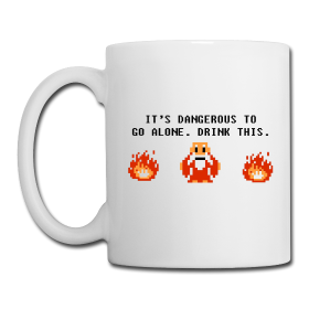 LOZ It's Dangerous To Go Alone Drink This Mug by Enlightenup23