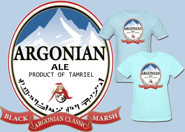 Elder Scrolls Argonian Ale T Shirt by Enlightenup23