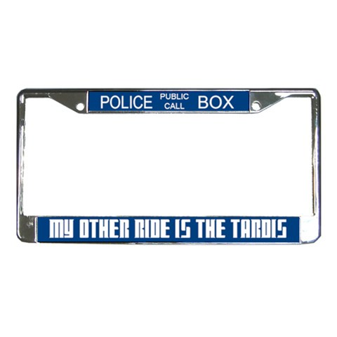 doctor who tardis license plate frame by enlightenup23 - Doctor Who License Plate Frame