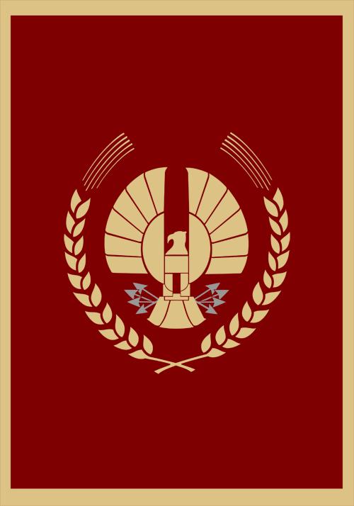 Hunger Games Panem Capitol Flag by Enlightenup23