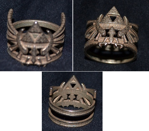 LOZ Hylian Crest Ring (3D Printed) by Enlightenup23