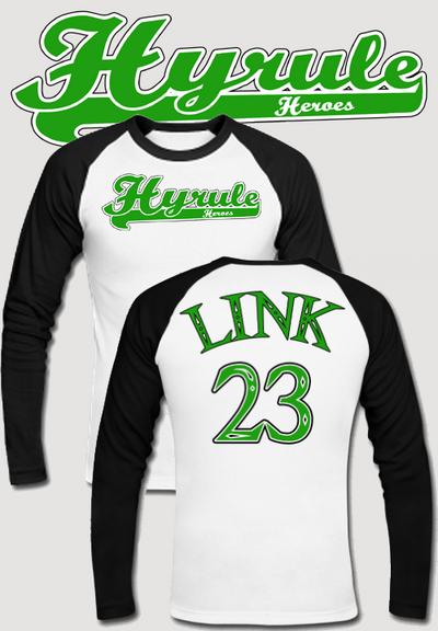 Hyrule Heroes Baseball T Shirt by Enlightenup23