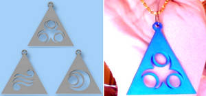 LOZ Din, Nayru, Farore Triforce Pendants