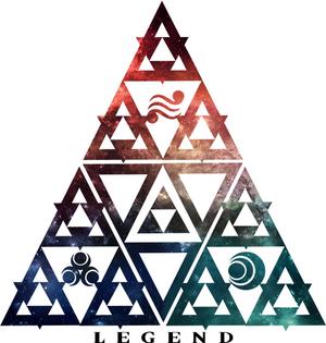 LOZ Triforce Legend Galaxy Design