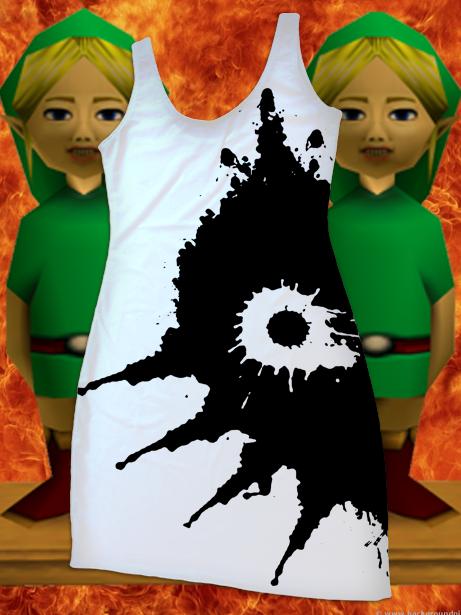 LOZ Majora's Mask Ink Blot Dress by Enlightenup23