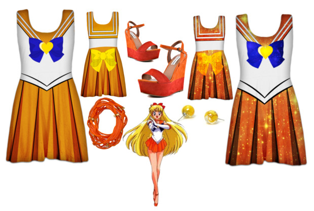 Sailor Venus Skater Dresses / Outfit by Enlightenup23