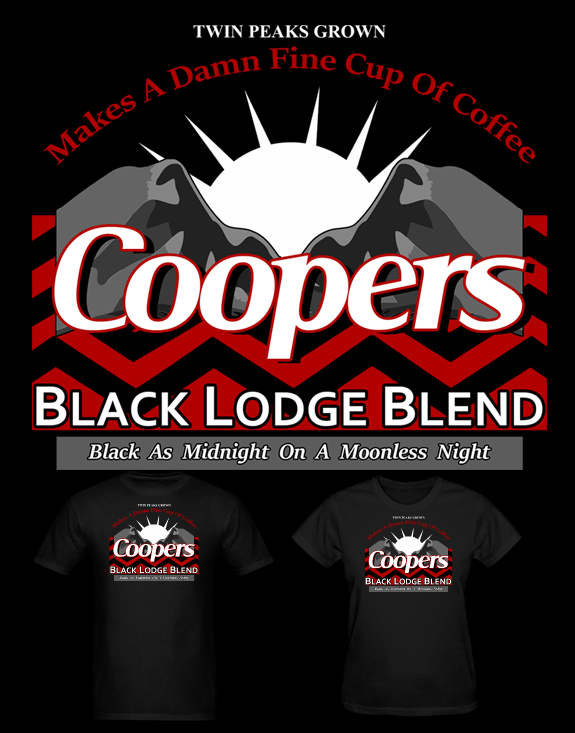Twin Peaks Coopers Coffee T Shirt by Enlightenup23