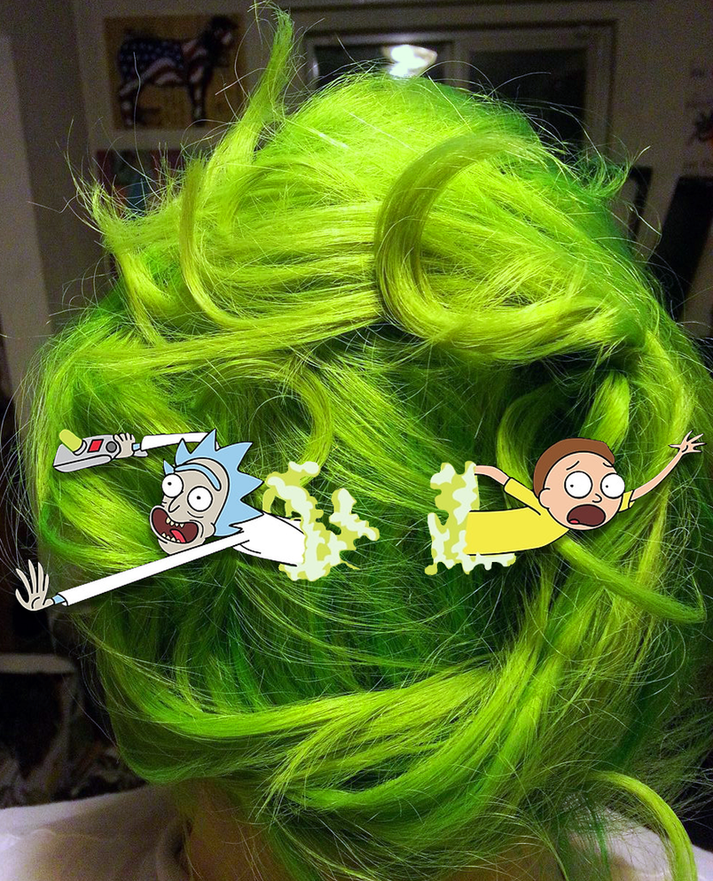 Rick and Morty Portal Hair by Enlightenup23