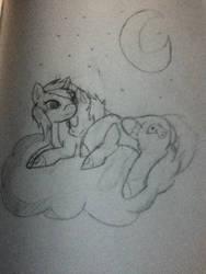ponies on a cloud by kitsune-yoei