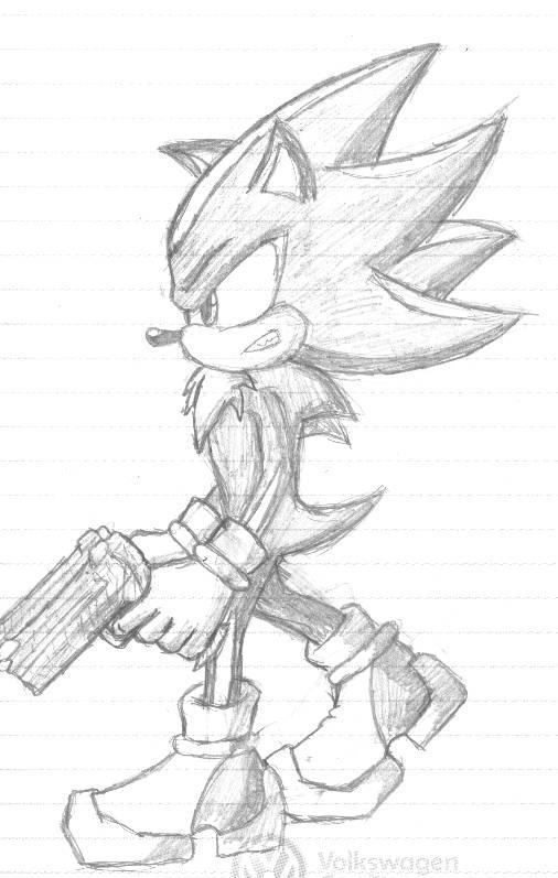 Sonic- Shadow Sketch by VirusMetalGarurumon