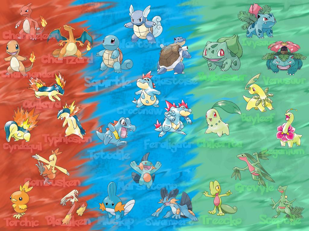 Every Starter Pokemon Wallpaper