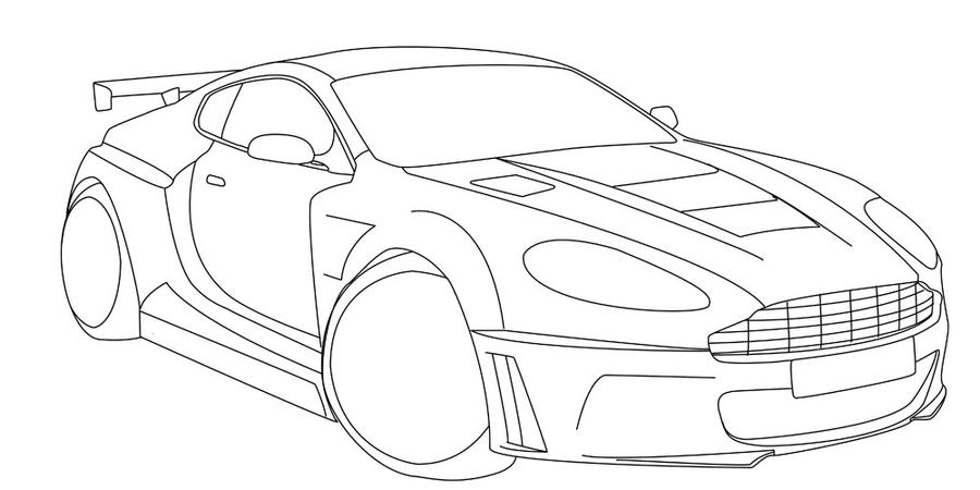 wip aston martin db9 lineart by xfearilx on deviantart