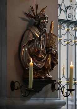 Gilded Jesus Statuette