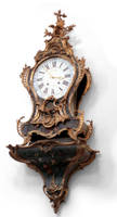 baroque brass or gold clock