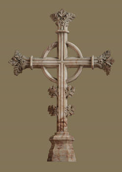 15th century marble cross