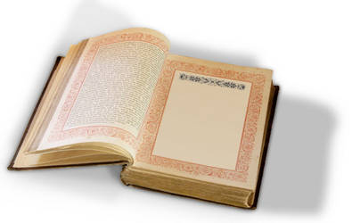 Victorian book, open