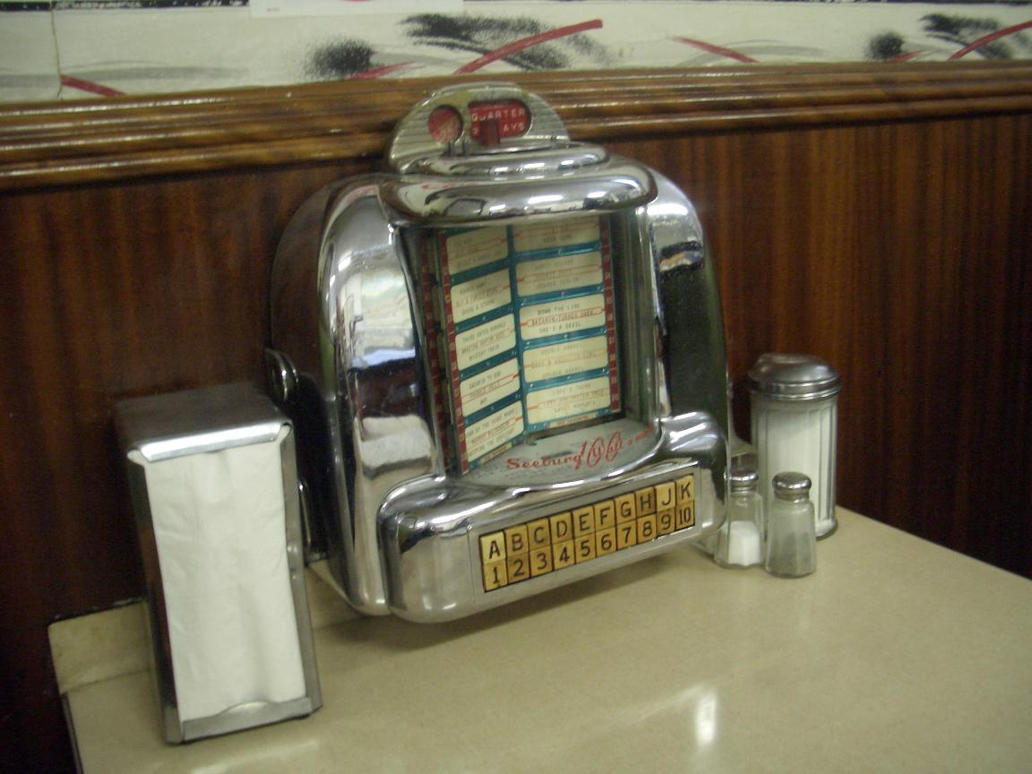Canada diner jukebox 01 by barefootliam stock on for Table a diner