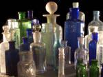 lots of old bottles