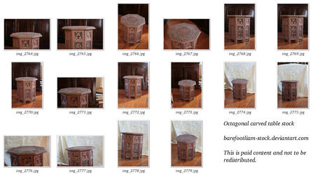 Octagonal Table Stock Pack