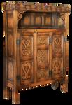 Castle antique cupboard, cut-out version