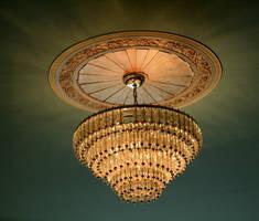 castle: glass chandelier