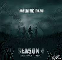The Walking Dead Season 4 Poster by GreenYosh