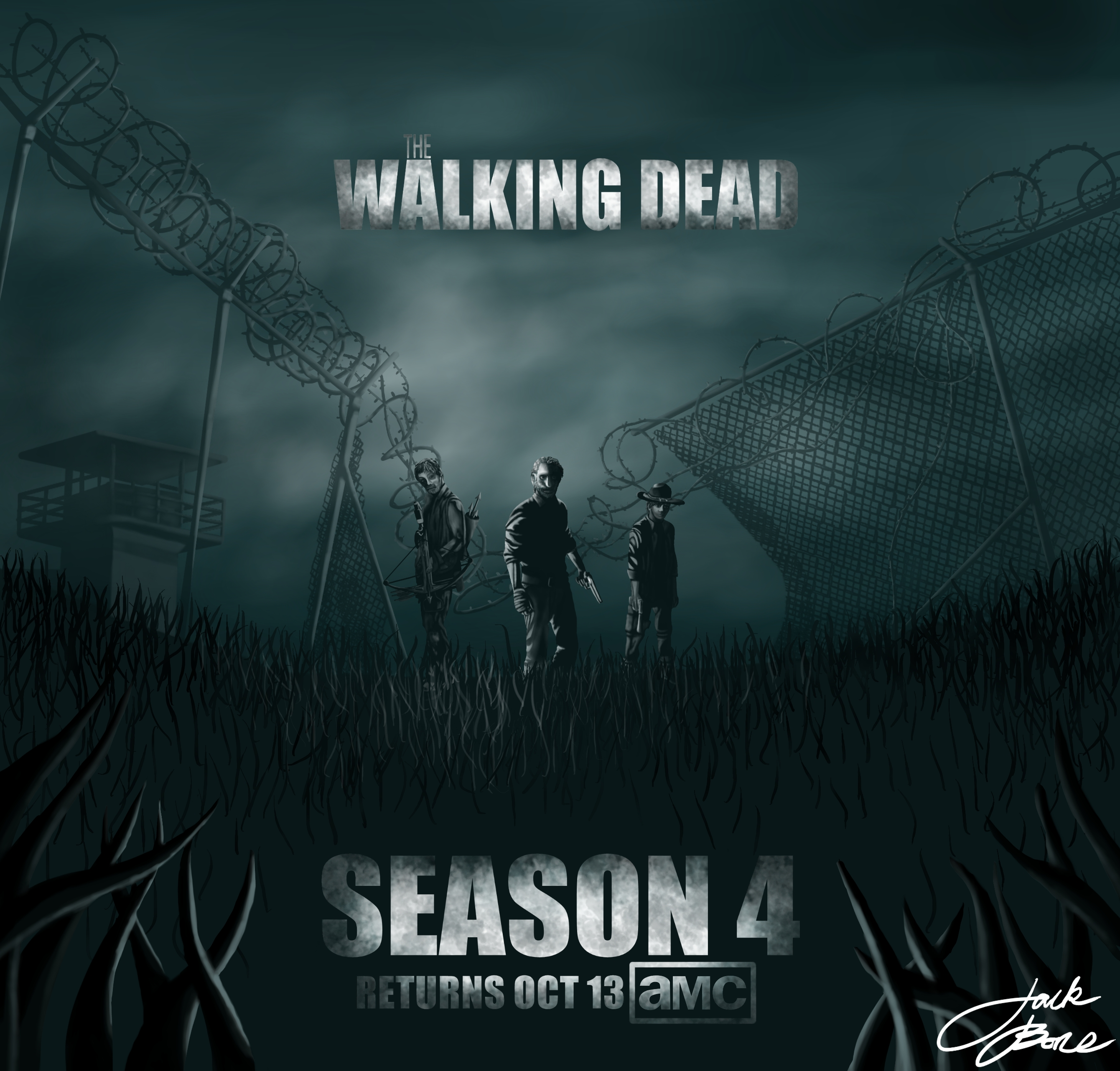 the walking dead season 4 poster by greenyosh on deviantart. Black Bedroom Furniture Sets. Home Design Ideas