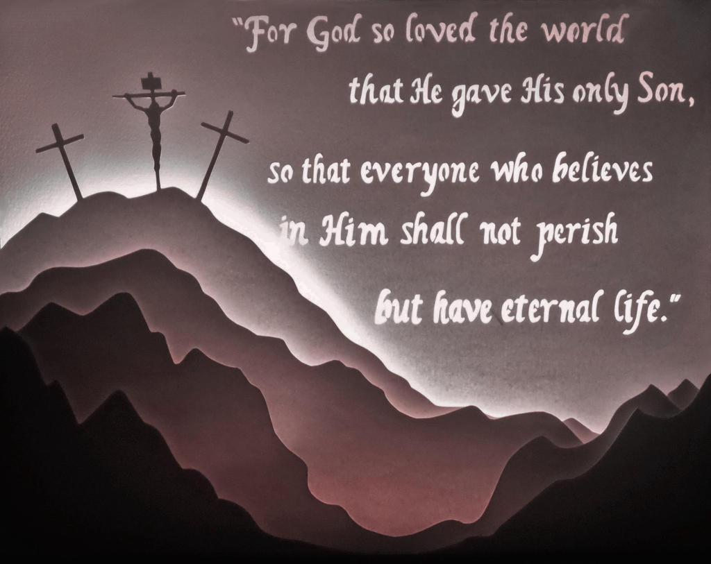 John 3:16 LightBox by GreenYosh