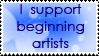 Support Beginning Artist Stamp