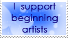 Support Beginning Artist Stamp by PoonieFox
