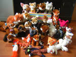 Poonies Fox Plush Collection