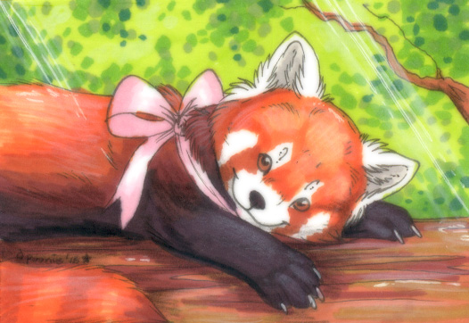 Hidden Cute in the Trees - ACEO Trade by PoonieFox
