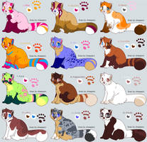 Red panda Adoptables - CLOSED by PoonieFox