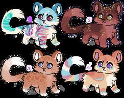 Feline Adoptables LEFTOVERS -  [CLOSED] by PoonieFox