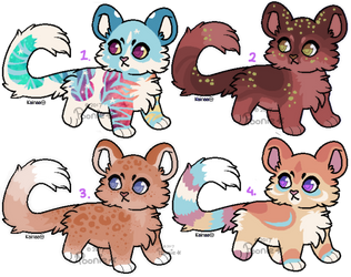 Feline Adoptables LEFTOVERS -  [CLOSED] by PoonieFox