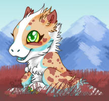 Baby in the Grass by PoonieFox
