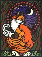 Art Nouveau Fox by PoonieFox