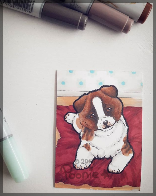 Waiting for You - ACEO Trade by PoonieFox