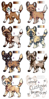 African Wild Dog Adoptables - OPEN [2/8] by PoonieFox