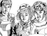 ET's Elliot, Gertie, and Michael
