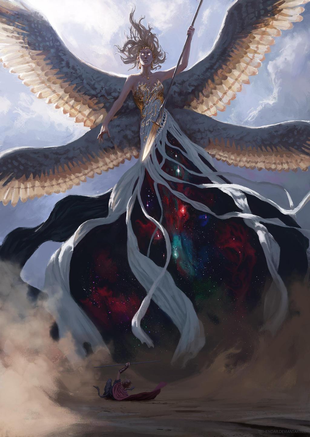 goddess of light by tithendar on deviantart