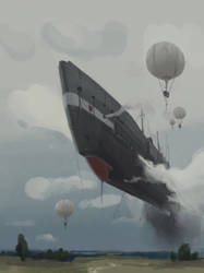 Airship by tithendar
