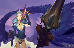 Dawn Princess and Dark wing by ariverkao