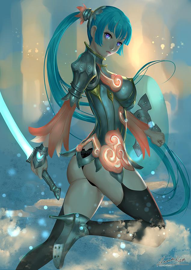 Blue lightsaber by ariverkao