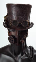 Steampunk Leather Tophat