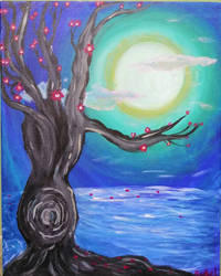 Tree by Moonlight by Rachabelle