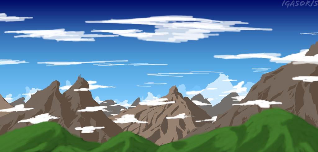 June 2014 Practice - Landscape #1 by igasoris