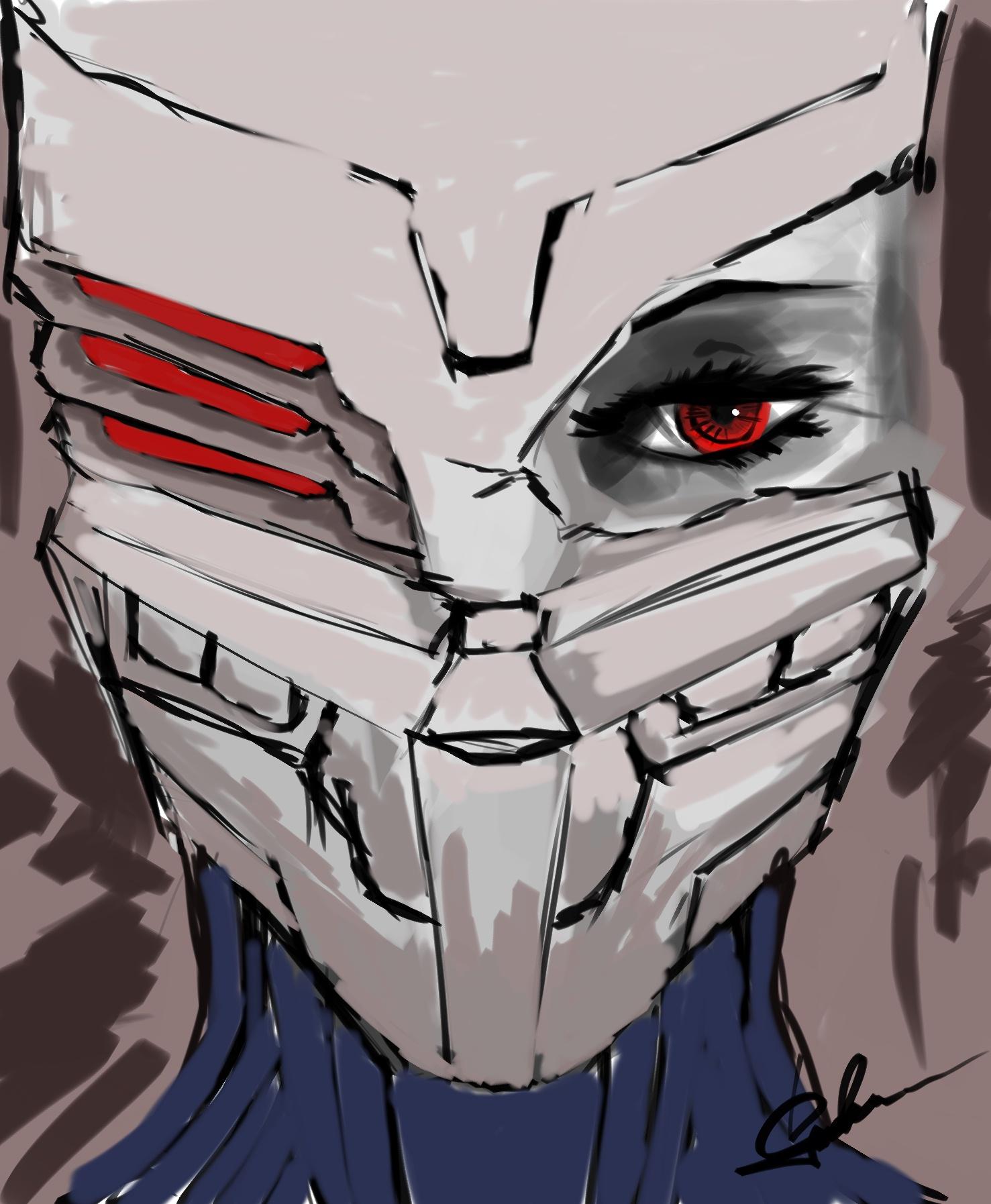Broken mask by igasoris
